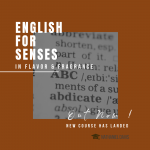 Course: English for Senses